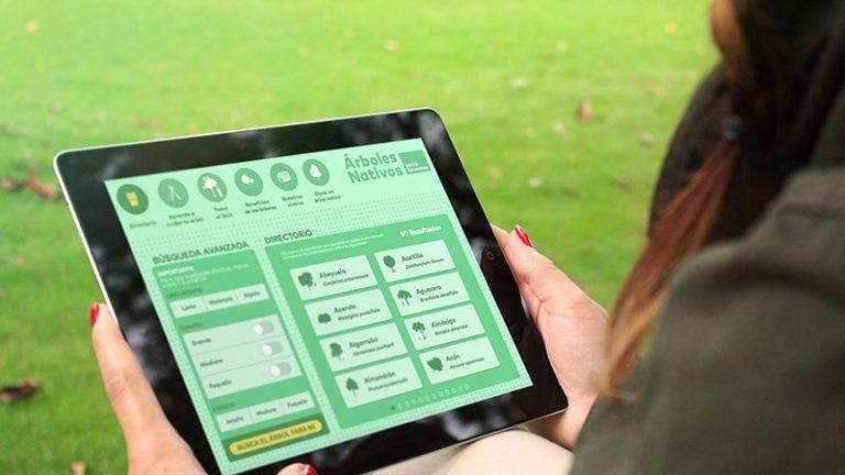 Web app diseñada para Árboles nativos