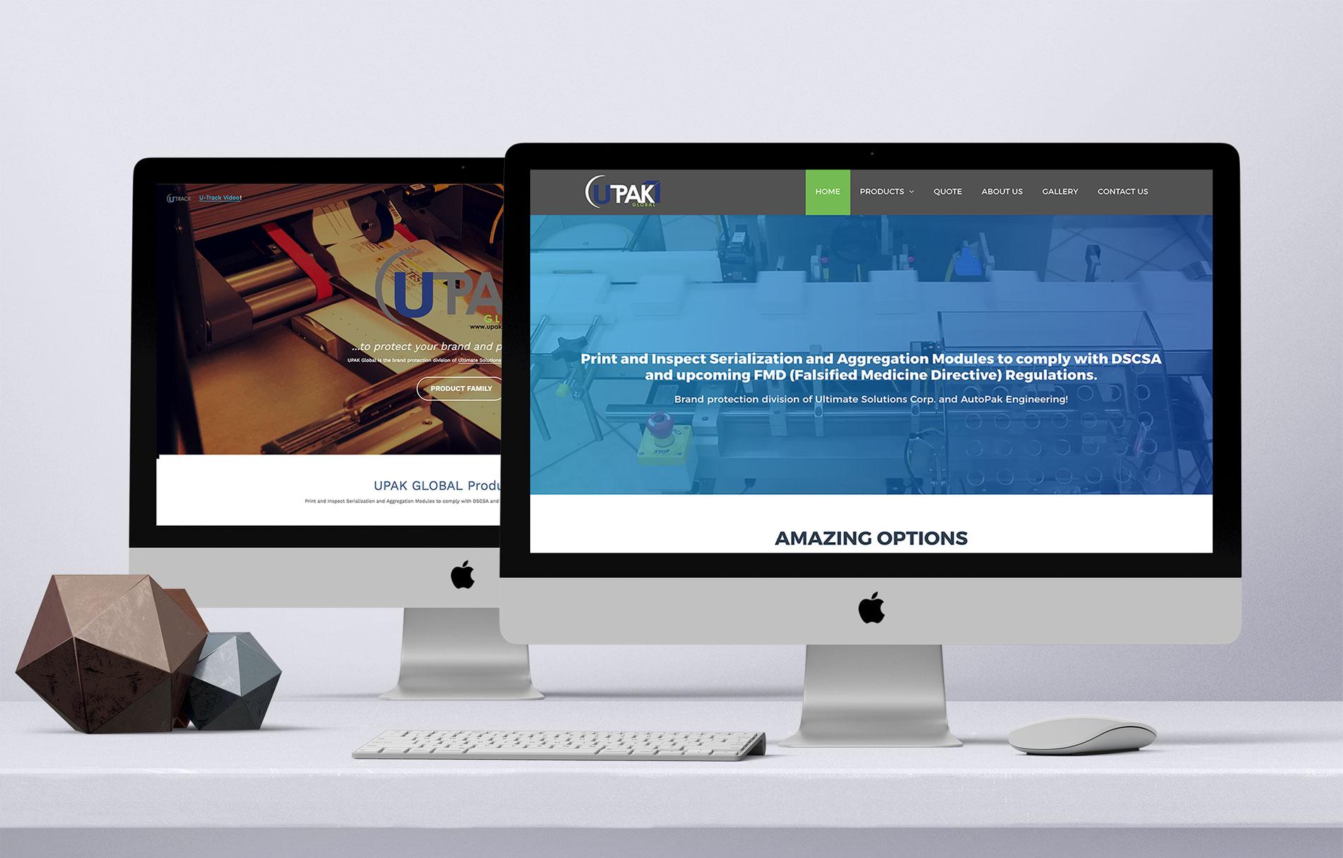 Actualización de presencia corporativa y la digital de Upak Global