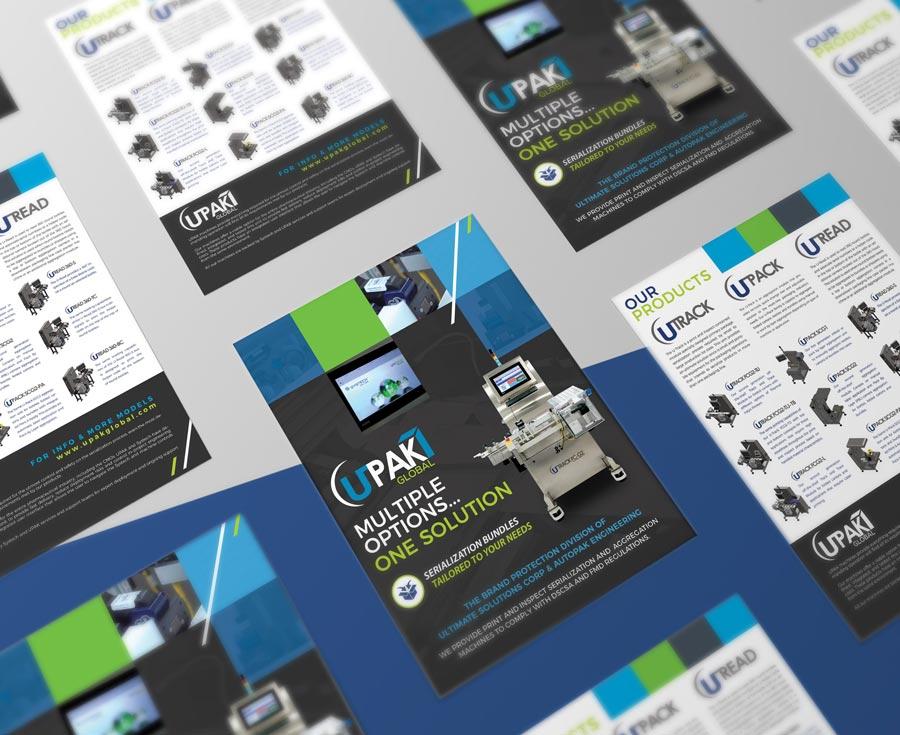 Diseño de display para convenciones y shows de UPAK Global
