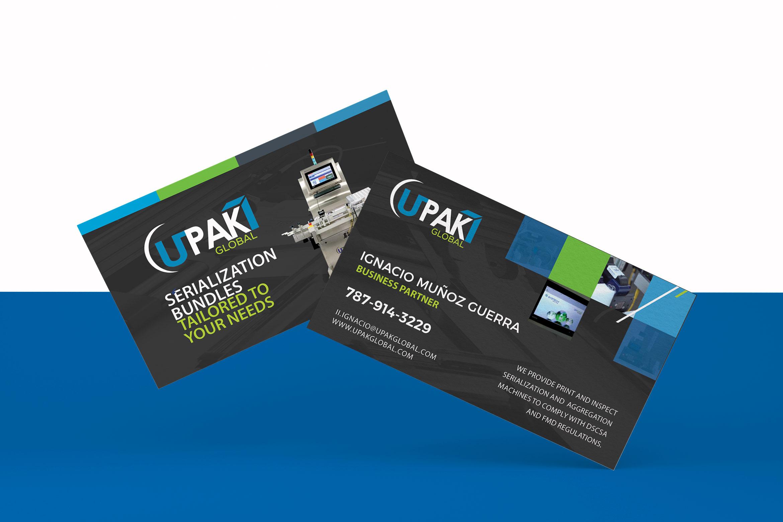 Diseño y administración de página web y brochures de Upak Global