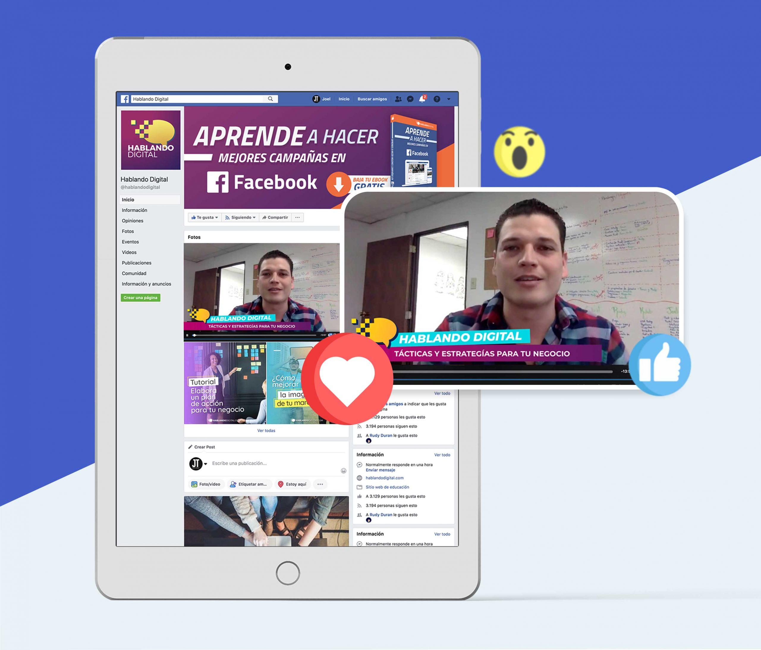 Aprende hacer mejores campañas en Facebook con hablando digital