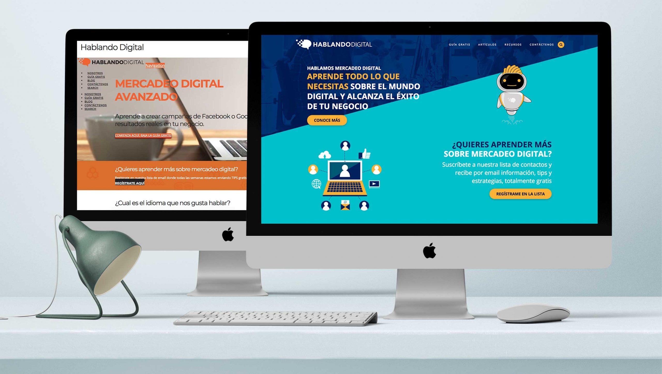 Administración de plataforma de educación y desarrollo de contenido de hablando digital