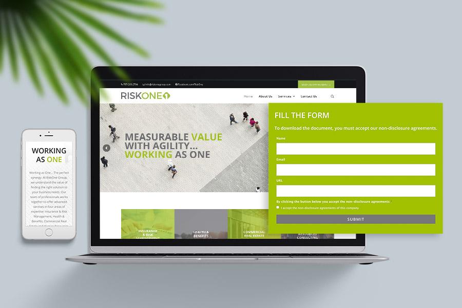 Desarrollo de página web de Riskone