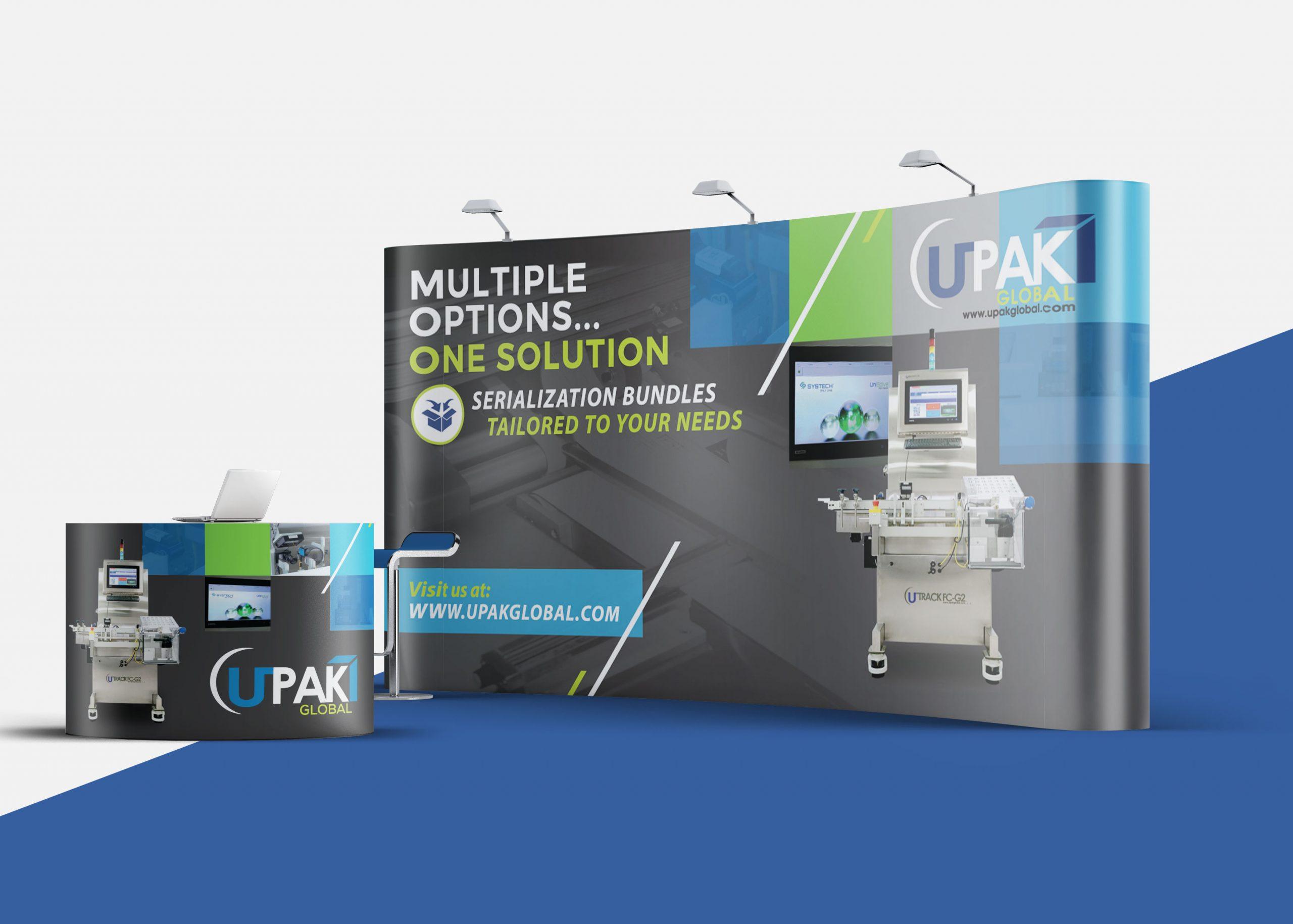 Creación de imágen profesional y moderna de UPak Global