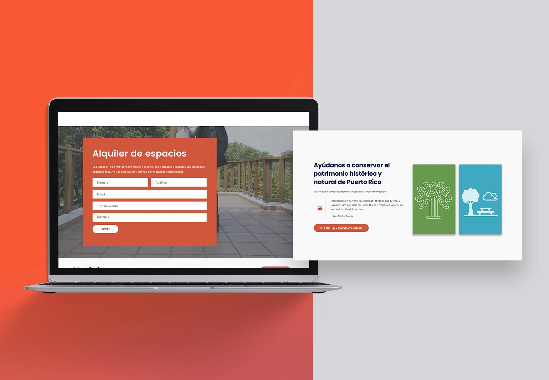 Contenido actualizado y programación web de Fundación Luis Muñoz Marín
