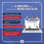 Errores más comunes en redes sociales
