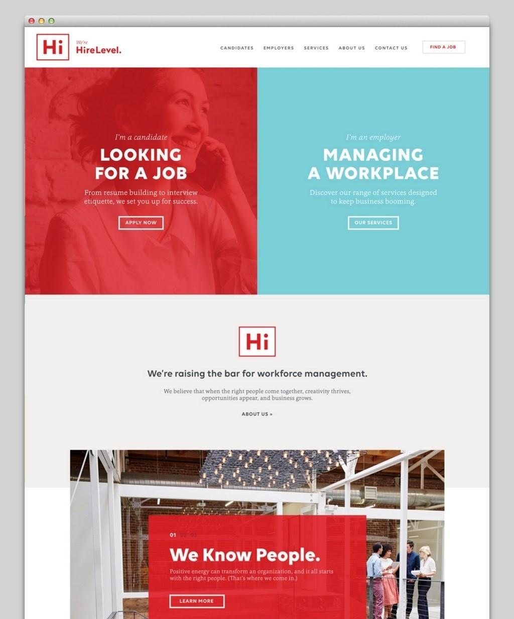 Tendencias de Diseño Web 2020: Dividir imágenes y colores.