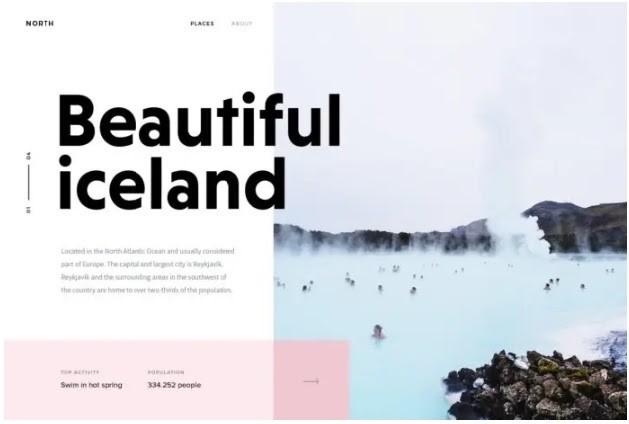 Tendencias de Diseño Web 2020: Tipografía en negrita.