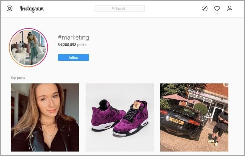 Hashtags más populares en Instagram