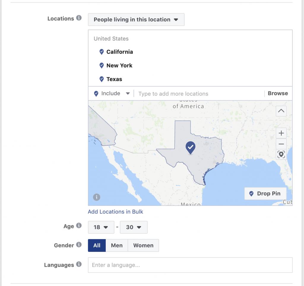 Segmentar público objetivo para anuncios políticos en Facebook