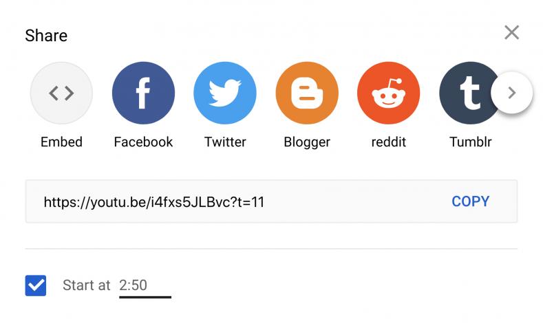 Crear enlaces con tiempo de video en YouTube