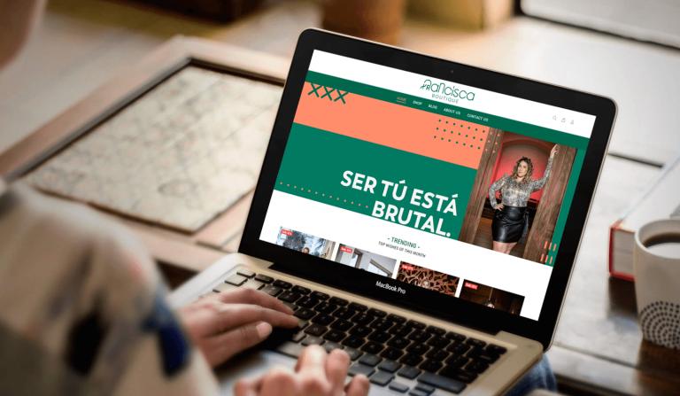 página de e-commerce para complementar la tienda física con tienda en línea de Francisco Boutique