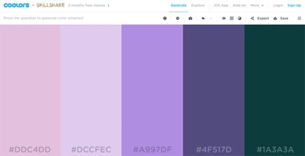 combinaciones de colores COOLERS