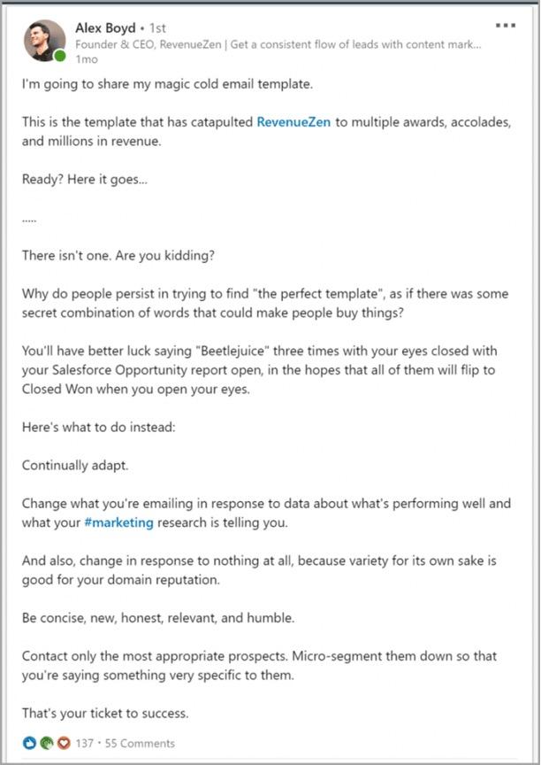 contenido de marketing digital en linkedin