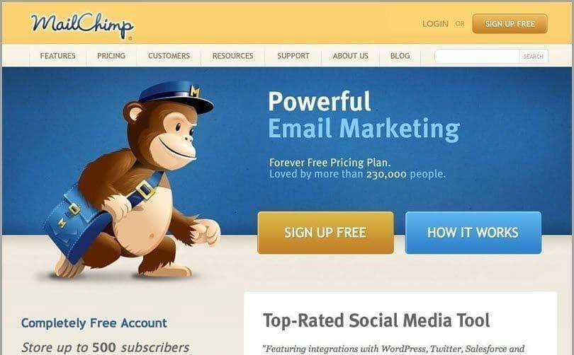 mailchimp para video email